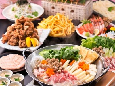 「北の家族」に3,500円の食べ飲み放題プラン登場! 「5種から選べるお鍋」をメインに「鶏のザンギ」と「フライドポテト」が食べ放題