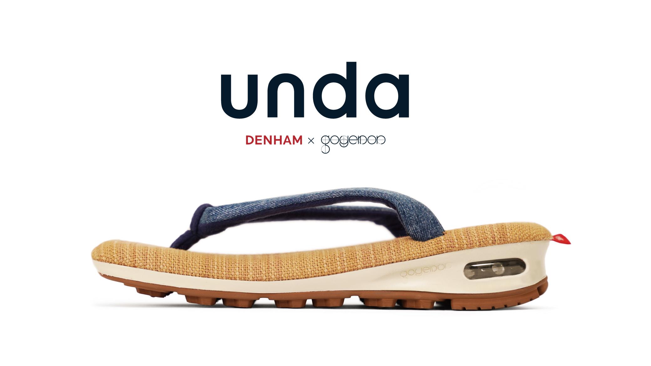 【雪駄×スニーカー「unda-雲駄-」】DENHAMとの別注モデルを発表。goyemon初となる33cm対応のXXLサイズもラインナップ。