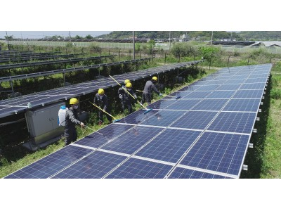 環境や発電設備に配慮した、新洗浄サービス「テクサPVケアフル洗浄サービス(PVCC)」を開始