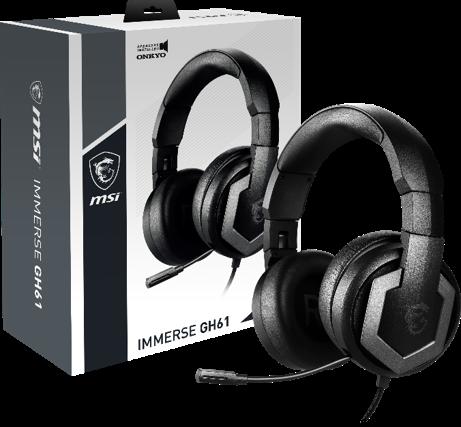 MSI、ONKYOの40mmドライバーを採用したハイレゾオーディオ ゲーミングヘッドセット「IMMERSE GH61」を発売