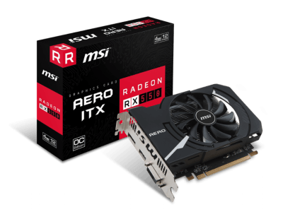 MSI、AMD Radeon RX 550 を搭載した「Radeon RX 550 AERO ITX 4G OC」を発売