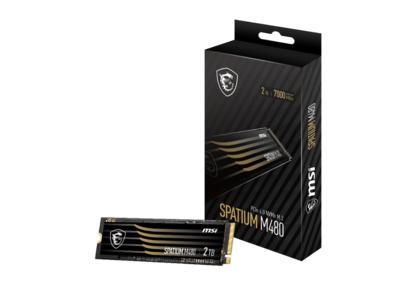 MSI、初となるM.2 SSDを発売「SPATIUM M480 PCIe 4.0 NVMe M.2 1TB」および「SPATIUM M480 PCIe 4.0 NVMe M.2 2TB」登場