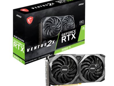 MSI、NVIDIA(R) GeForce RTX(TM) 3060Tiを搭載したグラフィックスカード「GeForce RTX(TM) 3060Ti VENTUS 2X 8G OCV1 LHR」を発売