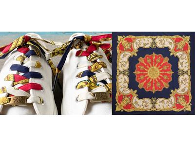 ヴィンテージスカーフを再構築するSDGsシューレースブランド「shoeface」から、8/27(金)に大人気モデル「スカーフシューレース」の新作が発表されます!