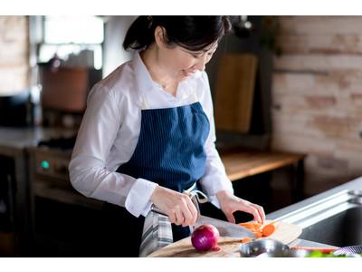 【新商品】新潟の料理研究家と考えた伝統織物 亀田縞のエプロン