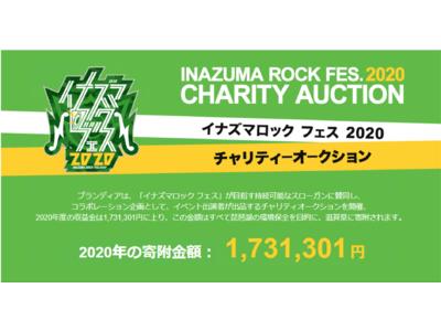 「イナズマロック フェス 2020」×ブランディアチャリティオークション累計寄附金額750万円到達