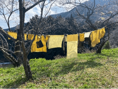 マイバッグ文化浸透へのアパレル会社のエコな取組み。余り生地を使った草木染めバッグ作りのワークショップ開催!