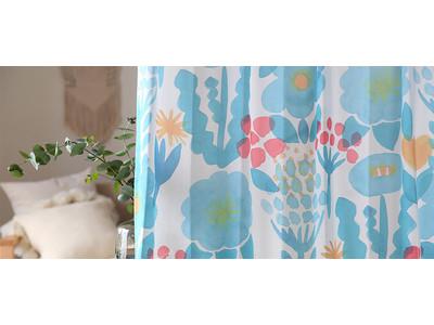 おうち時間を楽しくしてくれる、とびっきりかわいい新作のオリジナル花柄カーテンを11月10日より販売開始