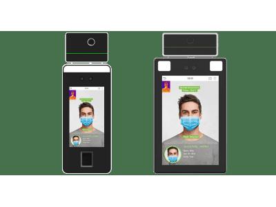 非接触で体温とマスクを検知するAI認証端末(サーモグラフィタイプ)の提供を開始いたしました。