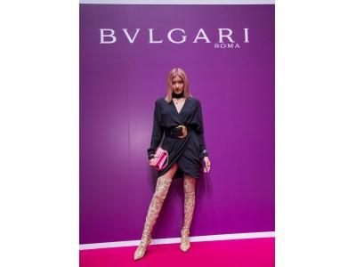 VOGUE FASHION'S NIGHT OUT 2018にてモデルのローラさんがブルガリのトークショーに登壇
