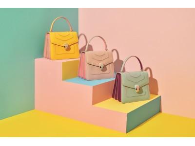 ブルガリ2019年春夏アクセサリーコレクションから、爽やかなソルベカラーが心躍る新作バッグが登場