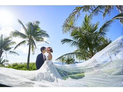 DOR wedding × ムーンウェディングの沖縄撮影プランリリース!エメラルドブルーの海を望むチャペルや自然豊かなグリーン、モダン建築で有名なホテルムーンビーチのウェディング撮影プラン販売スタート