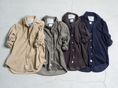 Frank&Eileenから日本限定コーデュロイシャツが発売