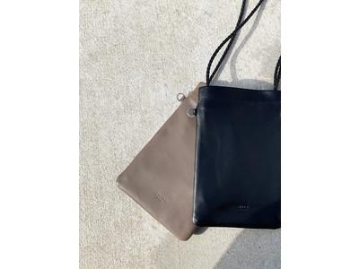 CALDO...TOKYO JAPAN / カルドトーキョージャパンから、ラムレザーを使用した「大人の雰囲気」なショルダーポケットが、《 caldotokyo.com 》限定販売で登場です!