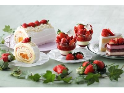 【パティスリー キハチ】甘酸っぱい苺がこぼれんばかりの新作パフェや、おおきな苺がかわいいスペシャル缶入り焼菓子ギフトなど
