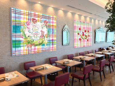 【Afternoon Tea】イラストレーター利光春華が描き下ろしたアートが彩る特別な空間で、贅沢な春のスフレセットを楽しむ