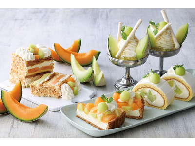 """【KIHACHI CAFE】メロン好き必見!パフェ、パイ、タルト、ロールケーキが、甘くジューシーな""""メロンづくし""""で楽しめる「メロンスイーツフェア」開催"""