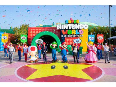 """""""WE ARE MARIO!""""全身でアソビの本能を解放できる世界初※1の任天堂をテーマにした壮大な新エリア『スーパー・ニンテンドー・ワールド』本日3月18日(木) グランドオープン"""
