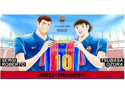 SHISEIDO MEN、FCバルセロナ、キャプテン翼とのコラボレーションが実現! キャプテン翼タッチの似顔絵が作れる「BARCA x SHISEIDO FC 似顔絵ジェネレーター」を公開