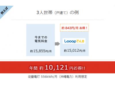 Looopでんき 沖縄県でサービス提供開始