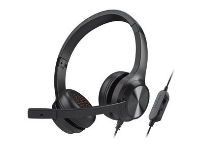 効率的に音声をピックアップするノイズキャンセリング コンデンサー マイクと、マイク ミュート スイッチや音量ダイヤルを備えたインライン リモート コントロール搭載のボイスチャット用ヘッドセット