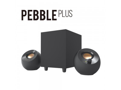 人気のUSBパワー スピーカー Creative Pebbleに、サブウーファー付2.1chモデルが新登場!USBパワーで迫力サウンドを再生するコンパクト2.1chスピーカー