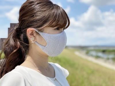 日本製!夏素材「繰り返し洗って使える無縫製の吸水速乾・立体フィット&形状記憶ニットマスク」を発売開始しました。