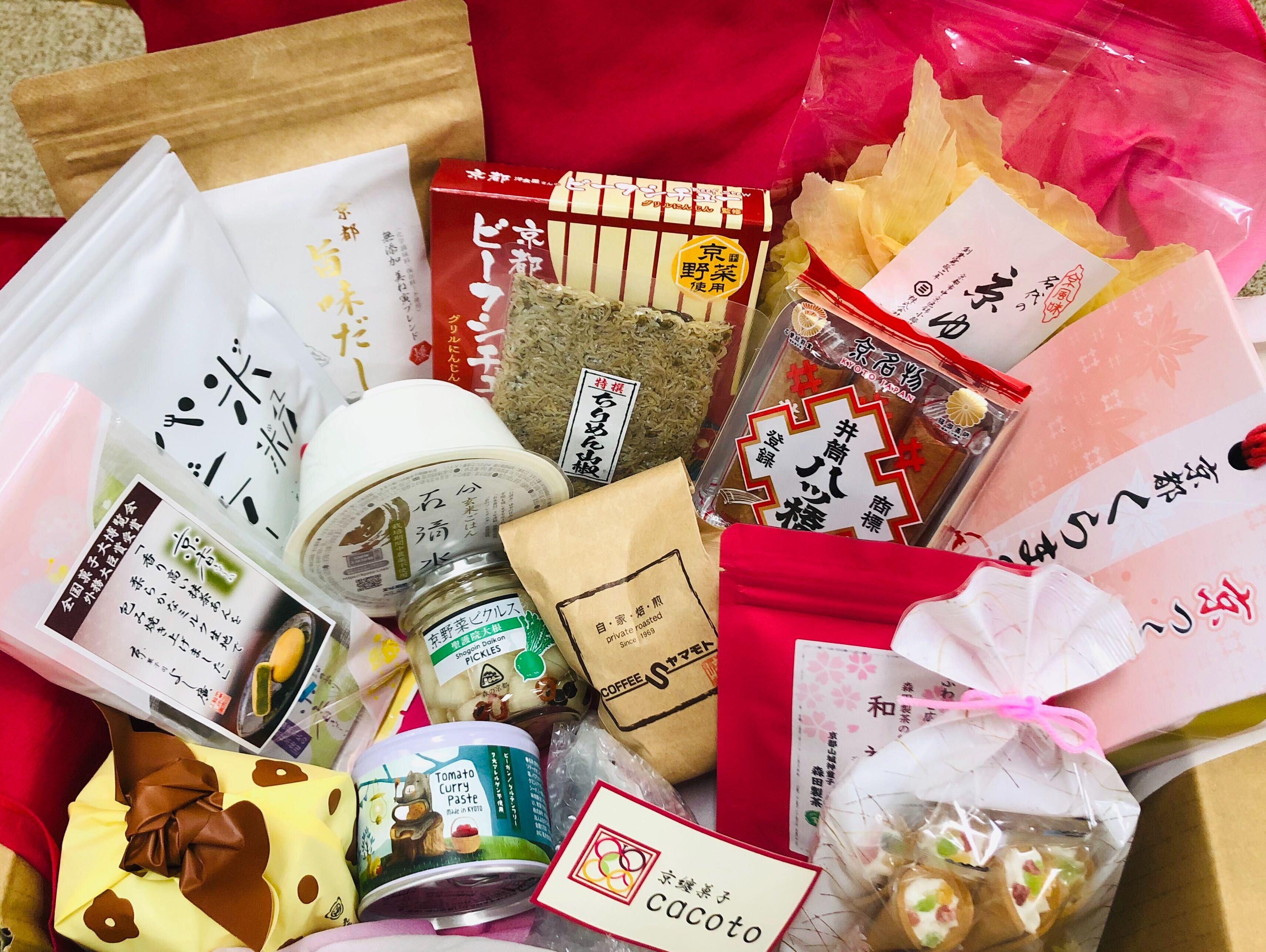 お家で京都を楽しむ「京都ふっこう 復袋」 全国的に有名な銘菓から地元で人気の商品まで