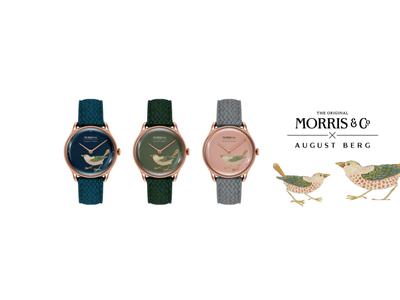 エシカル時計ブランド 「August Berg (オーガスト・バーグ)」が英国デザインブランド 「MORRIS & CO. (モリス・アンド・コー)」とのセカンドローンチを発表!