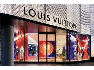 【ルイ・ヴィトン 渋谷メンズ店】にNBAコラボレーション仕様のウィンドウとポップアップスペースが登場