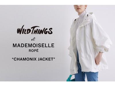 「WILD THINGS(ワイルド シングス)」人気のシャモニージャケットをMADEMOISELLE ROPE'で別注。女性が着やすいフェミニンなデザインに。