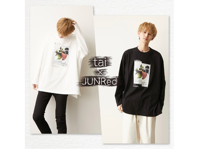 """「JUNRed」が「act'm」ブランドディレクター""""tai""""と初コラボレーション!『ビッグシルエットスラッシュアップルロンT』2月23日(火・祝)より順次発売開始!"""