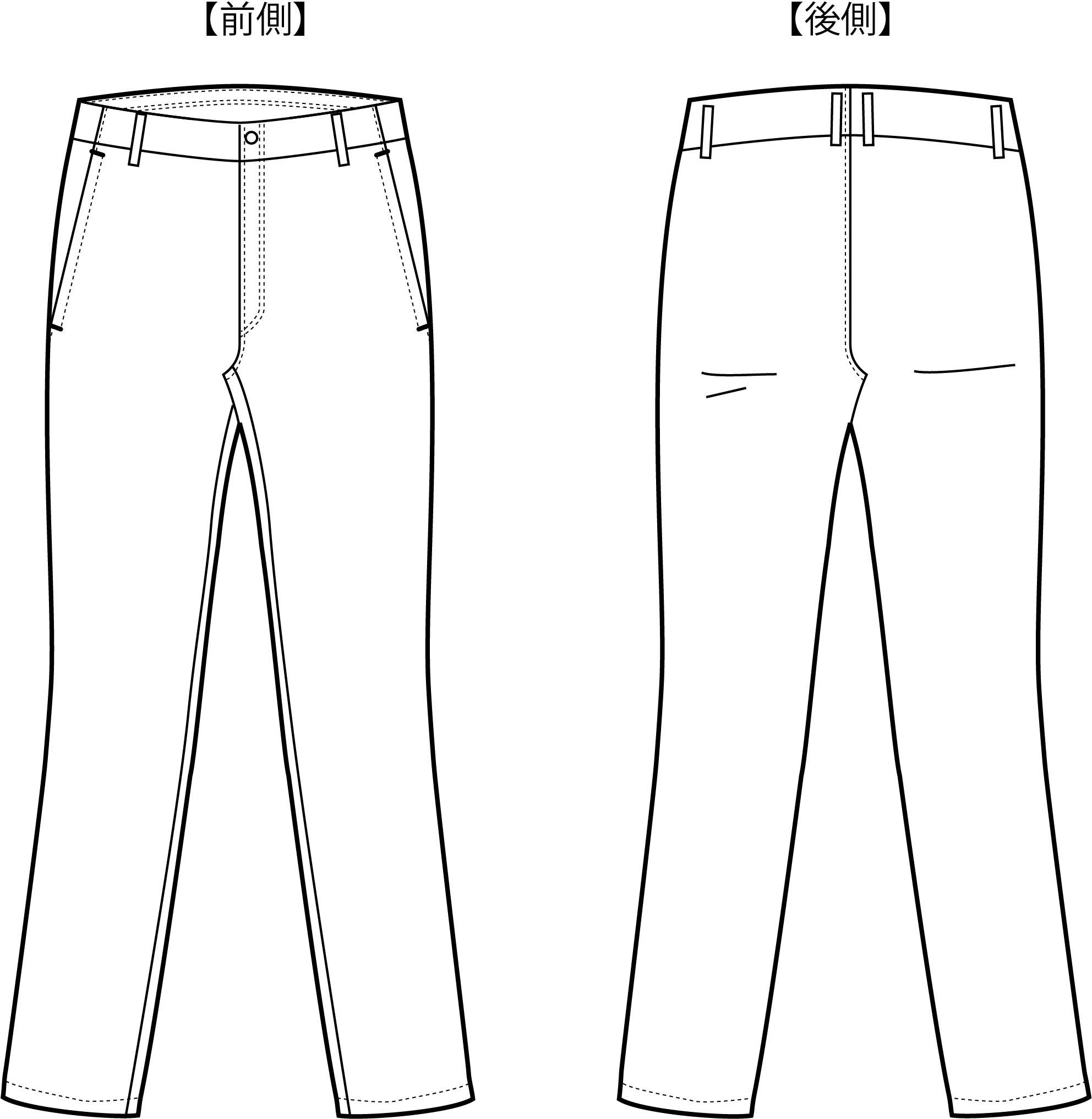 通常のズボンデザインとは一線を画したシルエットに特徴がある特許取得