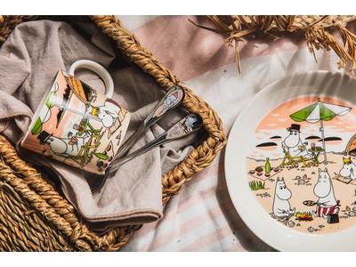 【アラビア】ボヘミアンなビーチライフを描いたアラビアの「ムーミン」シーズンサマーセット 発売
