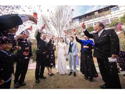 伊豆河津町『桐のかほり咲楽』貸切りガーデンウェディングを開催致しました。