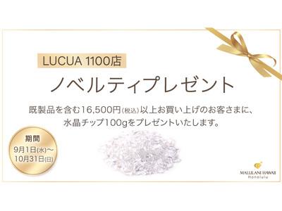 【9月&10月限定!】ハワイ発「マルラニハワイ」大阪ルクアイーレ店より、「水晶チッププレゼントキャンペーン」を開催いたします!