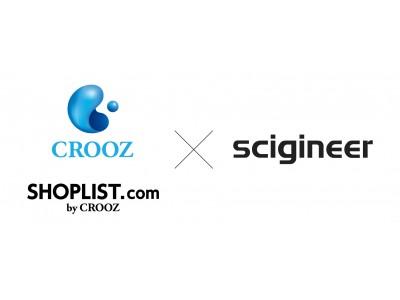通販サイト『SHOPLIST.com by CROOZ』AIレコメンデーションシステムの開発・提供を行うサイジニア社と業務提携 全てのECユーザーへ快適な購入体験の提供を通じ業績拡大を目指す