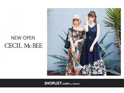 ファストファッション通販サイト『SHOPLIST.com by CROOZ』年商148億、全国61店舗を展開する株式会社ジャパンイマジネーションの人気ブランド「CECIL McBEE」が新規オープン