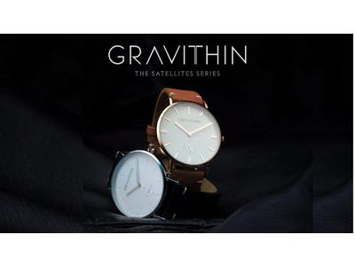 イタリア腕時計「Gravithin」初代モデルのクラウドファンディング販売開始