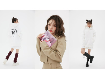 """大人気ファッションモデル""""ちぃぽぽ""""こと吉木千沙都とatmos pinkの初のコラボレーションアパレルが登場!"""