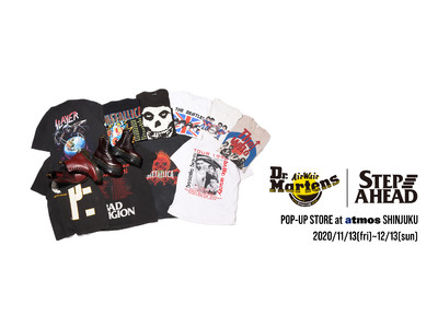 atmos 新宿店にて「Dr. Martens & STEP AHEAD」POP UPを開催。