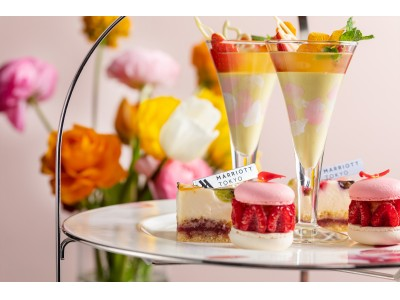 """東京マリオットホテル きらめく春を可憐に表現 """"BLOOM""""をテーマにした華やかなアフタヌーンティーを提供"""
