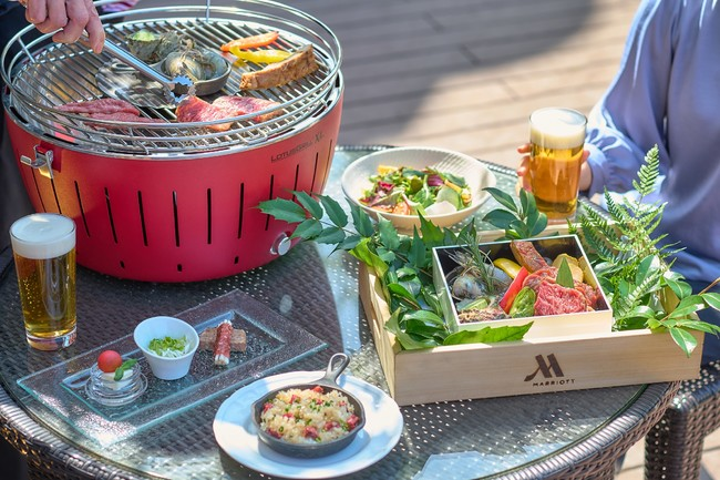 東京マリオットホテル 都会のオアシス「御殿山」のテラスで、手ぶらで楽しむ本格BBQ「PREMIUM BBQ」