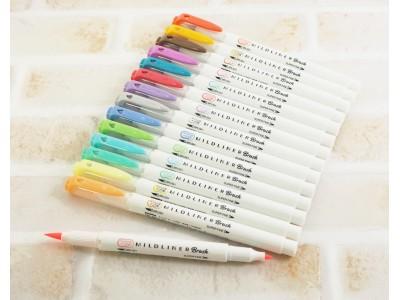 きれいな文字やイラストを手帳に書いて楽しむ人が増えている(※1) 手帳にカンタンに装飾ができる、おだやかな色合いの筆タイプペン  『マイルドライナーブラッシュ』 3月18日(月)発売