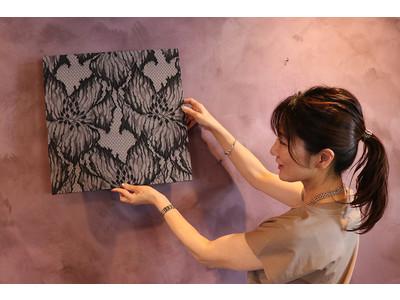 20,000本の糸が織りなす「糸のアート」。創業63年の世界トップメーカーによる、リバーレースを愉しむファブリックパネルが登場。