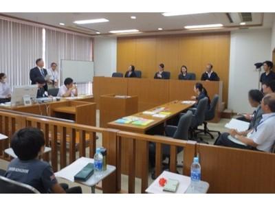 6組12名の親子が模擬法廷で裁判を体験「第5回 にっしん おやこでロースクール」を10/31開催 ~規模を縮小し、コロナウイルス感染拡大防止に努めて実施~