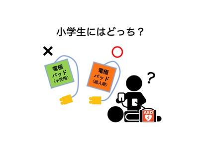 日本AED財団が緊急召集した会議の結果を踏まえ、JRC蘇生ガイドライン2020内で子どもに使うAED電極パッドの表現が変更となりました