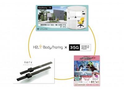 H2LのBodySharing(R)技術を活用したサービスを3社が発表。商用化を目指しDOCOMO Open House2020にて動態展示。