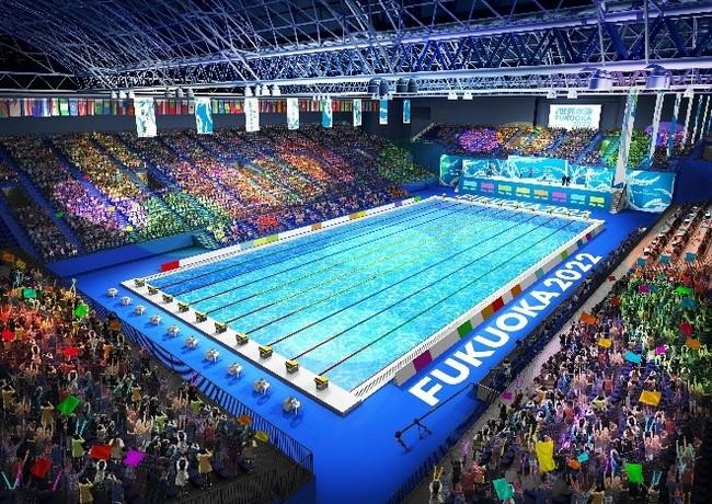 「FINA世界水泳2022福岡大会」と「FINA世界マスターズ水泳2022九州大会」のナショナルスポンサー第1号に決定