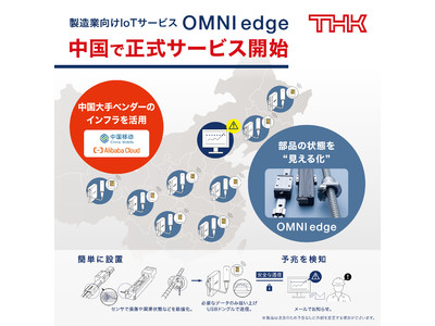 【THK株式会社】製造業向けIoTサービス「OMNIedge」、中国で正式サービスを開始